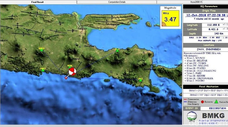 Blitar Sempat Diguncang Gempa Berkekuatan M 3,47
