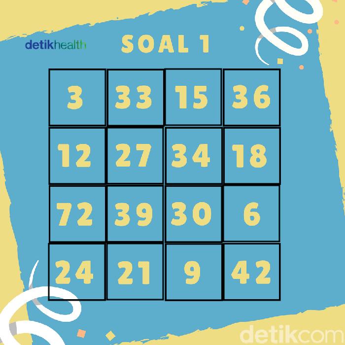 Dari deretan angka berikut, mana angka yang tidak cocok antara satu sama lain? (Foto: detikHealth)