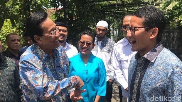 Sandiaga Uno saat menemui Sri Sultan HB X di Keraton Yogyakarta.