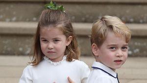 10 Foto Pangeran George dan Charlotte di Pernikahan Putri Eugenie