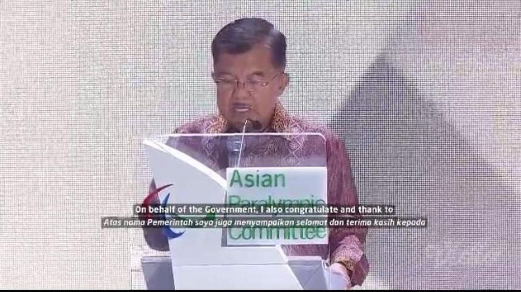Wapres JK di Penutupan Asian Para Games: Ini Momen Memenangkan Kesetaraan