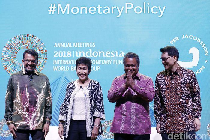Sejumlah Gubernur Bank Sentral dari negara Asean hadir dalam seminar IMF-World Bank di Nusa Dua, Bali, Jumat (12/10/2018).