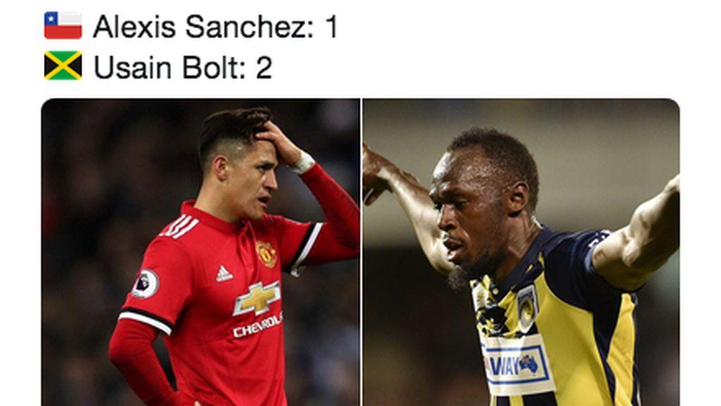 Usain Bolt Bikin Gol, Alexis Sanchez Kena Sindir