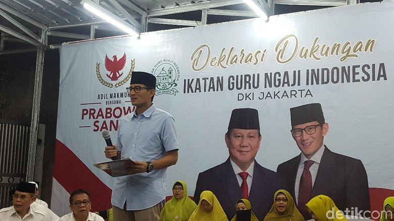 Ikatan Guru Ngaji DKI Deklarasi Dukung Prabowo-Sandiaga