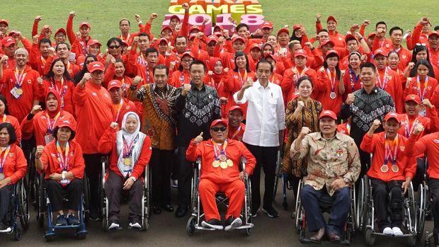 Indonesia berada di peringkat kelima Asian Para Games 2018. (