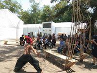Panggung Bambu yang Tak Pernah Sepi di Paviliun Indonesia