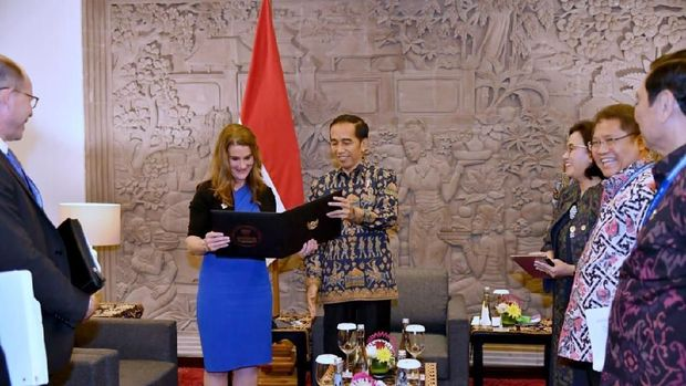 Jokowi Ngobrol Bareng Melinda Gates Bahas Kualitas SDM