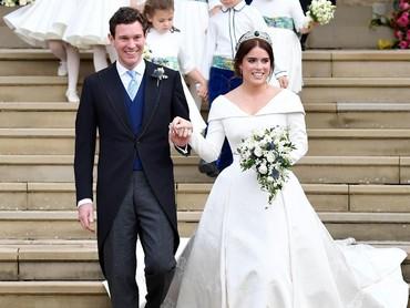 Yeay! Pangeran George dan Putri Charlotte jadi pengiring pengantin lagi di pernikahan Putri Eugenie dan Jack Brooksbank. (Foto: Toby Melville - WPA Pool/Getty Images)
