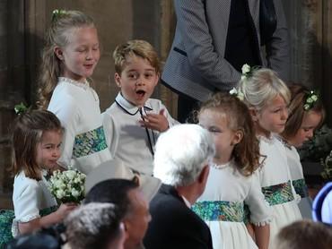 Wajah iseng Pangeran George tertangkap kamera nih. Hi-hi. (Foto: Yui Mok - WPA Pool/Getty Images)