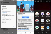 Notifikasi pembaruan Android 9 Pie di Sony Xperia XZ2 dan XZ2 Compact serta perubahan pada tampilan kameranya pasca update.