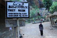 Jalan menuju Curug Batu Templek (Wisma/detikTravel)