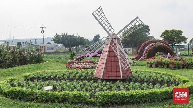 Chung She Flower Garden Taiwan, Taman Bunga Obat Kepenatan