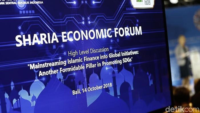 Pemerintah melalui Bank Indonesia dan Kemenkeu membahas ekonomi syariah di pertemuan internasional IMF-World Bank 2018 di Bali.