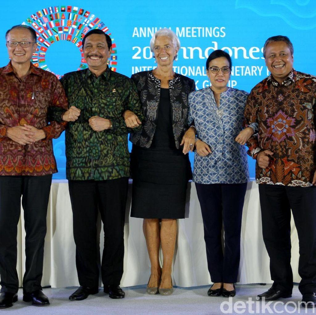 Staf: Pose 1 Jari Luhut di IMF-WB Artinya Indonesia Number One