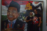 Warna-Warni Jatim Menyatu di Pasar Seni Lukis Indonesia 2018