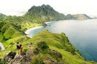 Pulau Padar diselimuti rumput hijau (Yudhistira Arga/d'Traveler)