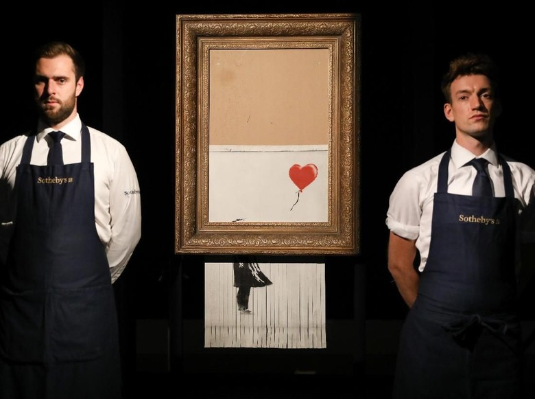 Malfungsi, Lukisan Rp 20 M Banksy Seharusnya Hancur Semua