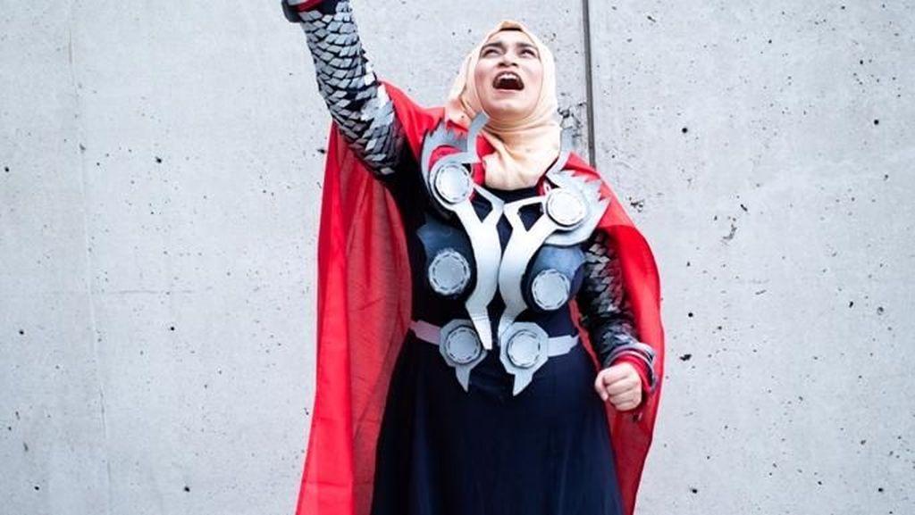 Foto: Uniknya Kostum Avengers Pakai Hijab yang Viral Ini