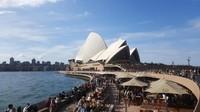 Pindah ke Benua Kanguru, Opera House di Sydney yang ikonik pun turut jadi lokasi prewedding (Fitraya/detikTravel)