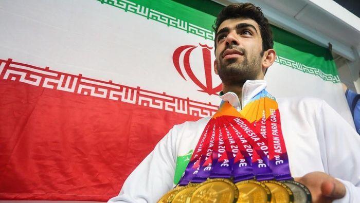 Perenang Iran, Shahin Izadyar, jadi atlet tersukses Asian Para Games 2018.  (INAPGOC)
