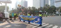Sosialisasi CCTV Awasi Pelanggar Lalin, Polisi Bagi Brosur di Jakpus