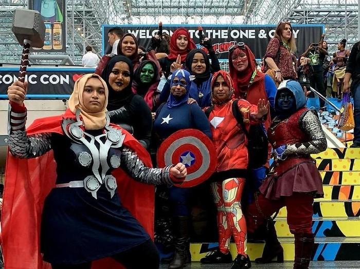 Hijab Heroes di New Yorks 2018 Comic Con. Foto: Dok.Maliha Fairooz