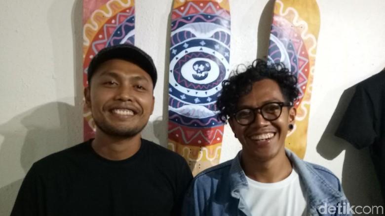 Tokoh di balik mural cantik di Gang Denpasar, Bali (Aditya Mardiastuti/detikTravel)