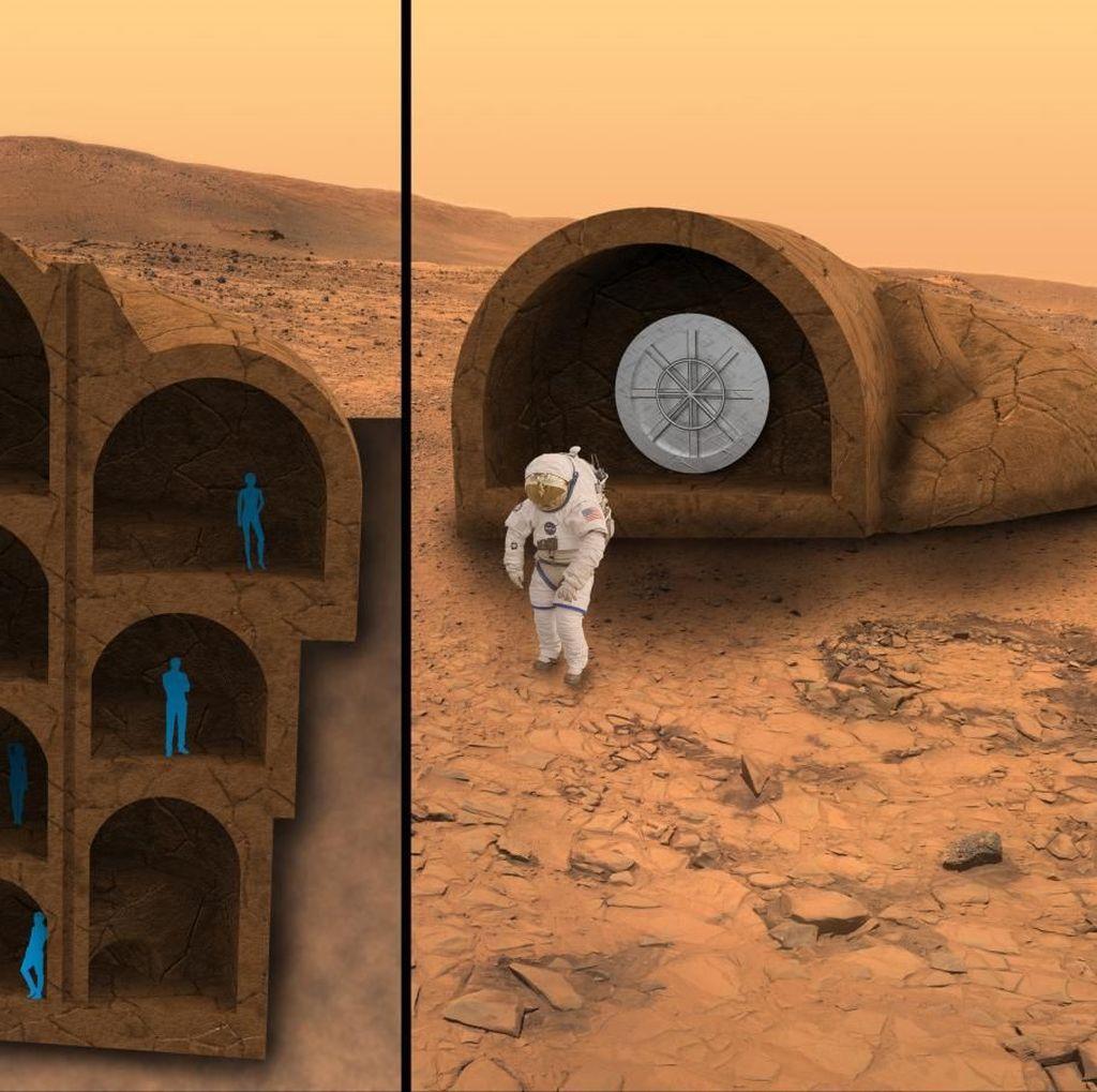Begini Rancangan Rumah Untuk Manusia di Planet Mars