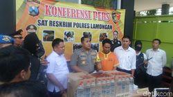 Polisi Gagalkan Pengiriman Ribuan Liter Arak di Lamongan!