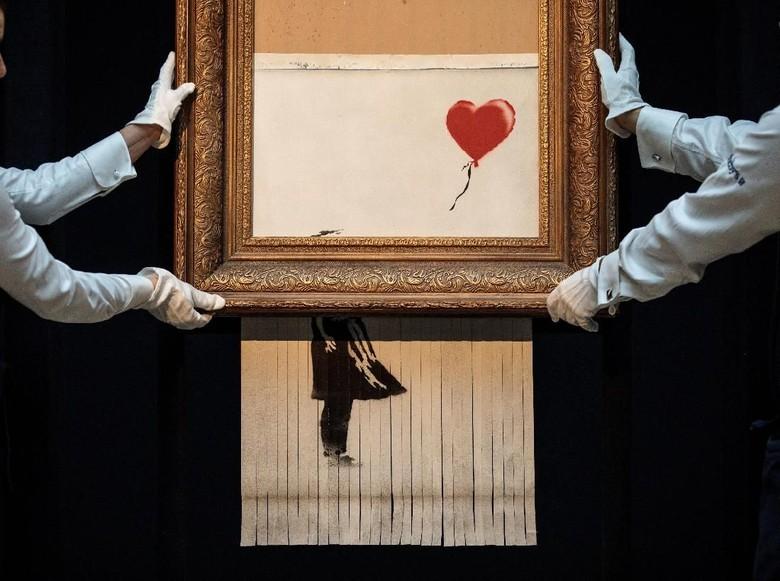 Lukisan Rp 20 M Banksy yang Dicabik-cabik Mesin Penghancur Sambangi Jerman