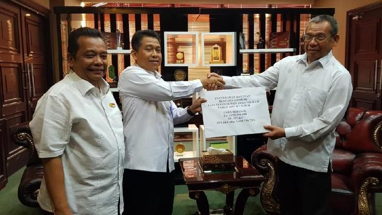 Rp 3,1 M Bantuan Petugas-Jemaah Haji untuk Korban Gempa NTB