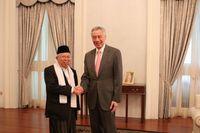 Ma'ruf Amin ke Singapura, Temui Perdana Menteri Lee