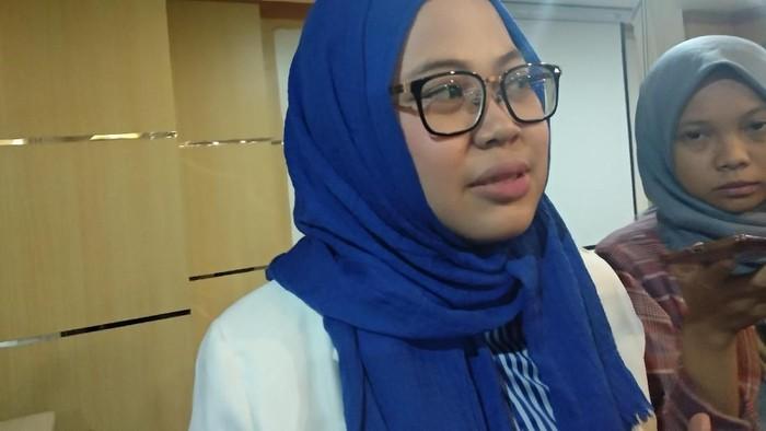 Rini saat ditemui di Kementerian Kesehatan. (Foto: Widiya Wiyanti/detikHealth)