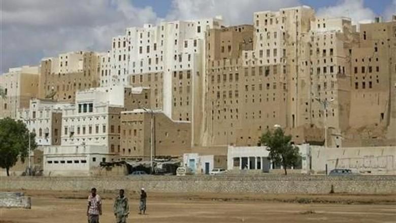 Gedung-gedung di kota kuno Shibam (Khaled Abdullah/REUTERS)
