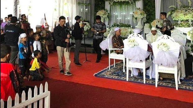 Kondisi SPBU jadi Tempat Pernikahan