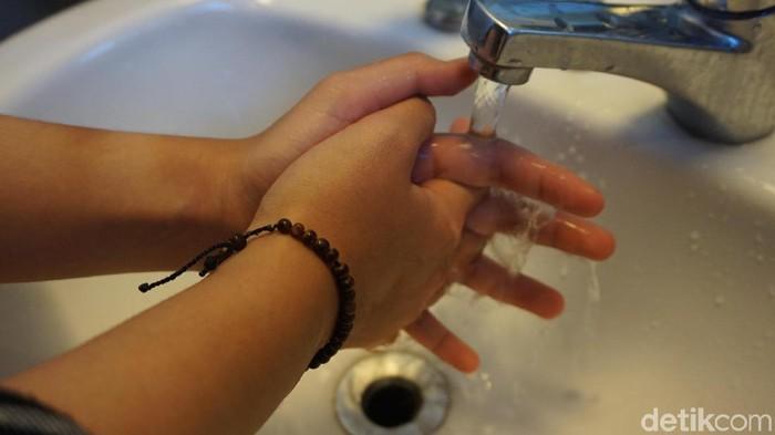 Cuci tangan sepertinya sepele tapi penting untuk kesehatan (Foto: Frieda Isyana Putri/detikcom)