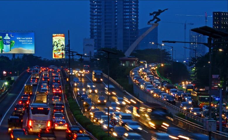 Kemacetan di Jakarta. Foto: detik