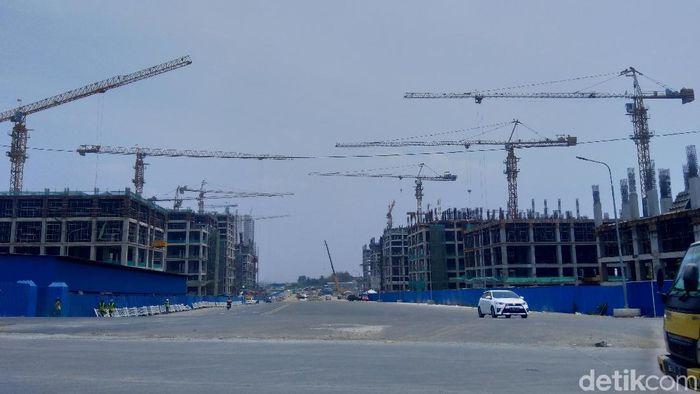 Foto: Suasana pembangunan proyek Meikarta, Selasa (16/10/2018). (Bil Wahid-detikcom)