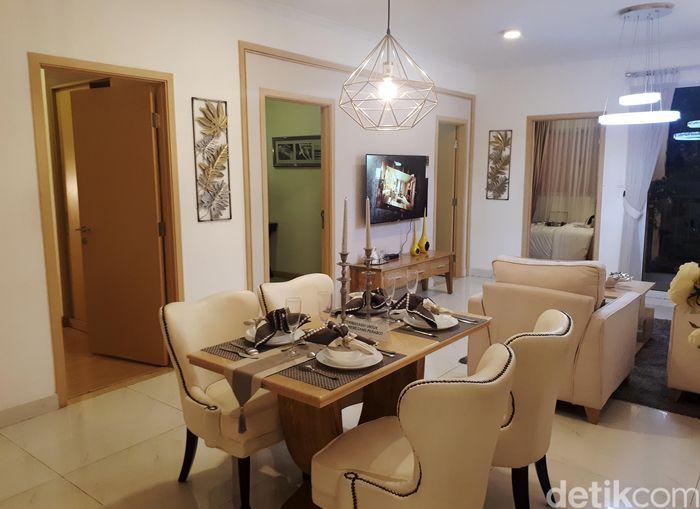 Unit apartemen Meikarta yang tengah dikebut pengerjaannya berlokasi di distrik 28.