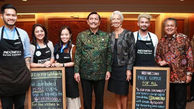 Donasi Kopi untuk Lombok dan Palu di IMF-WB Bali Capai Rp 1,3 M