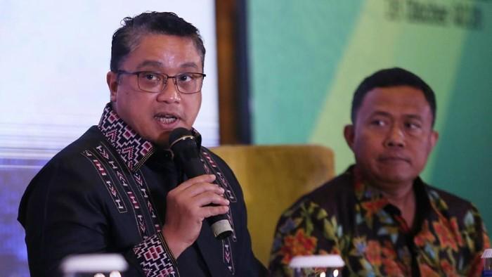 BPJS Ketenagakerjaan menggelar Simposium Pekerja Migran Indonesia di Jakarta, Selasa (16/10/2018). Ketua Komisi IX DPR Dede Yusuf hadir dalam acara tersebut.