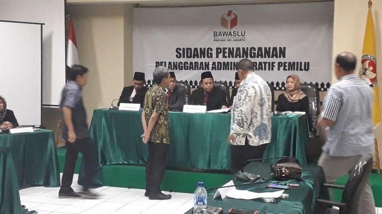 Bawaslu DKI Gelar Sidang Aduan Iklan Videotron Jokowi-Maruf