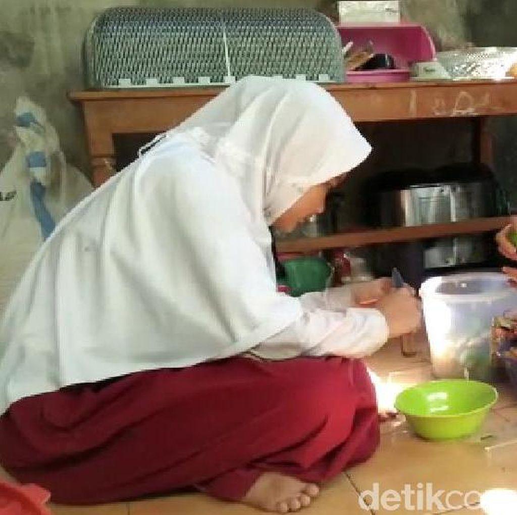 Ini Keseharian Anak Asuh Ipda Rochmat, Bantu Jualan Hingga Ngaji Bareng