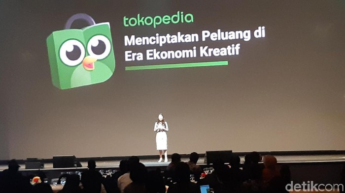 Tokopedia tak ingin menggusur toko offline (Foto: Virgina Maulita Putri/detikINET)