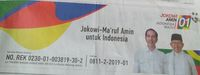 Unsur-unsur Kampanye di Iklan Rekening Jokowi-Ma'ruf Disorot
