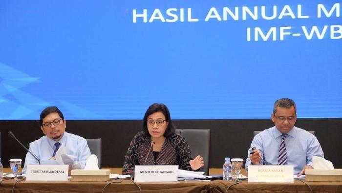 Menteri Keuangan Sri Mulyani Indrawati konferensi pers APBN KITA