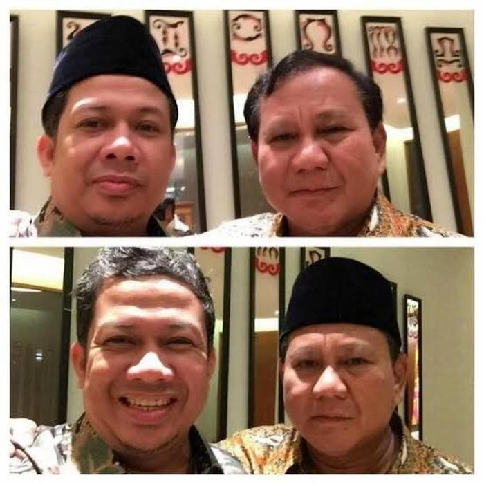 Foto: Fahri Hamzah selfie bareng Prabowo Subianto. (Dok Twitter Fahri Hamzah).