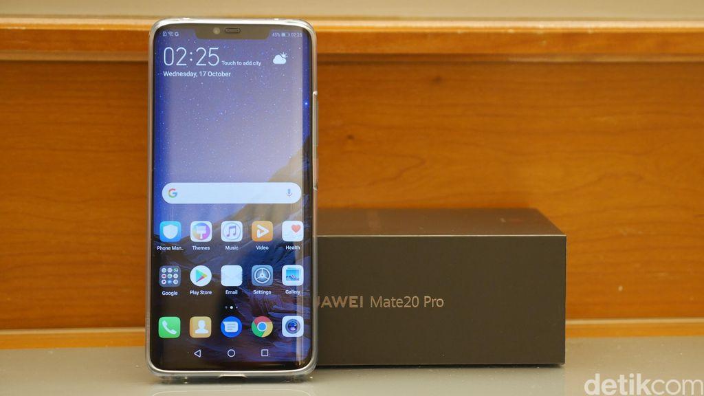 Huawei Mate 20 dan Mate 20 Pro (pada gambar) jadi senjata baru Huawei di sektor flagship. Foto: Anggoro Suryo Jati/detikINET