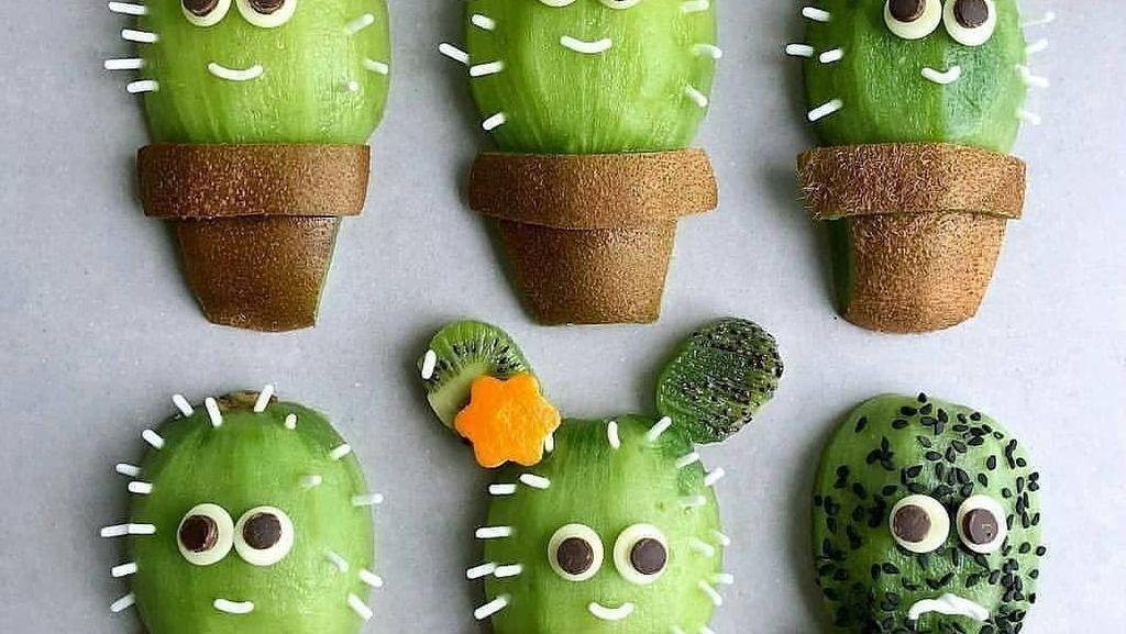 Cantiknya! Buah Kiwi Bisa Dibentuk Jadi Kura-kura hingga Kaktus