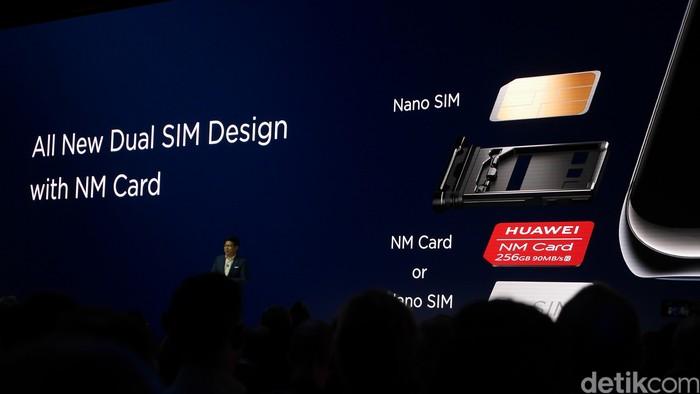 Di ponsel barunya, Huawei memakai standar anyar untuk ukuran kartu memori (Foto: Anggoro Suryo Jati/detikINET)